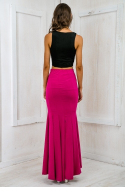 Ready to tango panelled maxi skirt - purple