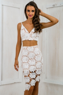 All too well crop top - White Lace SALE