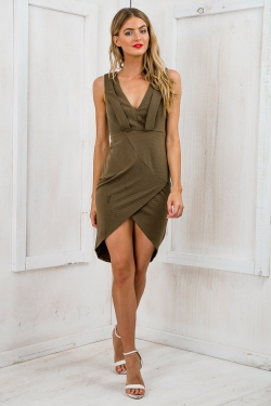 The Nights Bodycon Dress - Khaki