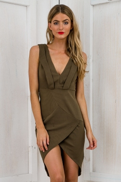 The Nights Bodycon Dress - Khaki SALE