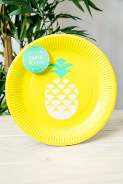 Paper Plate 12Set - Pineapple