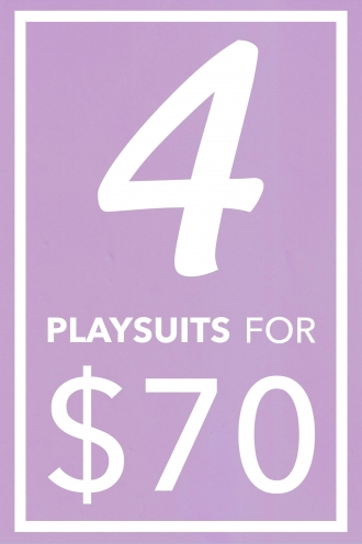 4 Playsuits Pack