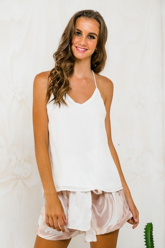 STELLY THE LABEL Backless top - White