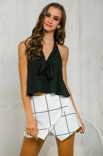 Black betty sleeveless top - Black-SALE