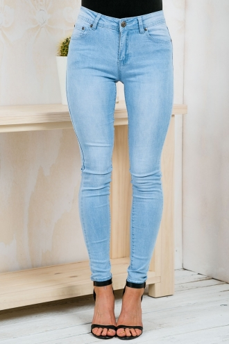 Ruby Skinny Jeans - Light Denim