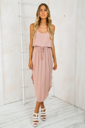 What I want relaxed maxi dress - Dusty Blush