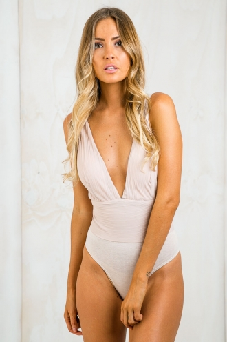 Free ourselves textured bodysuit - Nude
