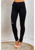 Maple Syrup Hot Cakes Womens Mid Rise Skinny Leg Jeans - Black