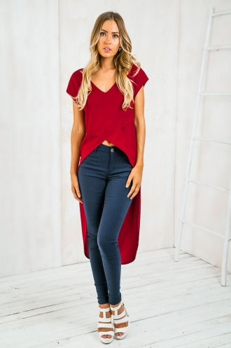 Forever and always high low top - Maroon Red