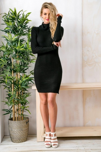 White Hot Chocolate Womens Turtle Neck Dress - Black NO PHOTOS SHOOT NEXT WEEK