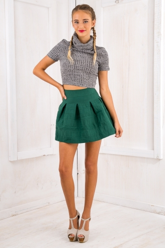 Jaz mini Skirt - Teal Green