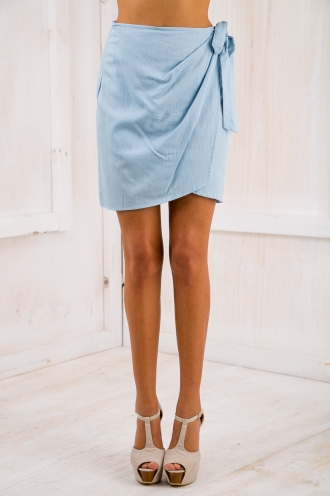 Amelia wrap skirt - Denim
