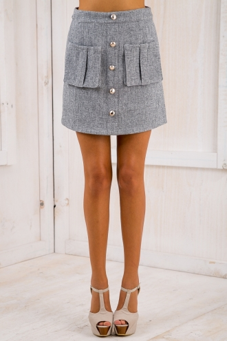 Cristina A-line skirt - Grey-SALE
