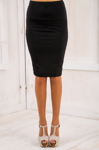 Last Song Pencil Skirt - Black