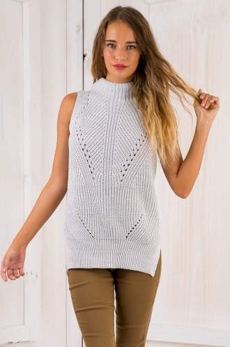 Skyler knit top - Grey