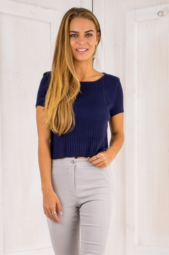Abbia knit top - Navy-SALE