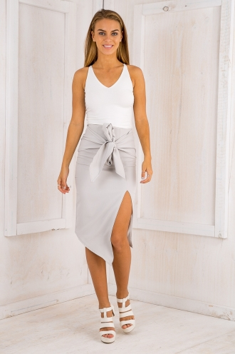 Atlanta sash skirt - Grey