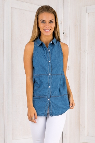 Casey shirt - Blue Denim-SALE