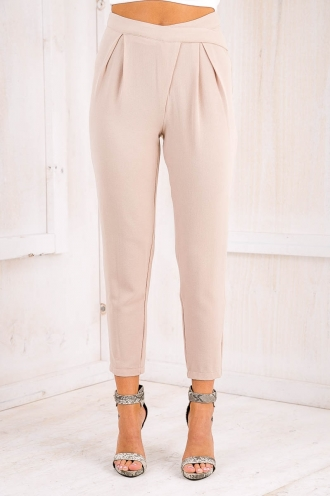 STELLY THE LABEL Taylor Luxe pants - Beige-SALE