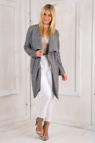 London days coat -Charcoal Grey