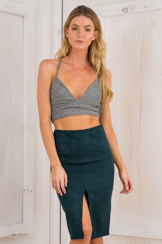 Larnie crop top - Grey SALE
