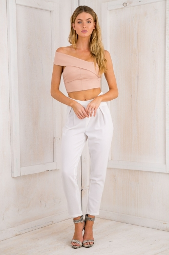 STELLY THE LABEL Taylor Luxe pants - White