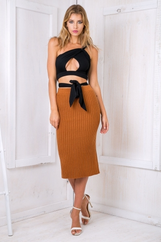 Lacey jane Skirt - Burnt orange-SALE