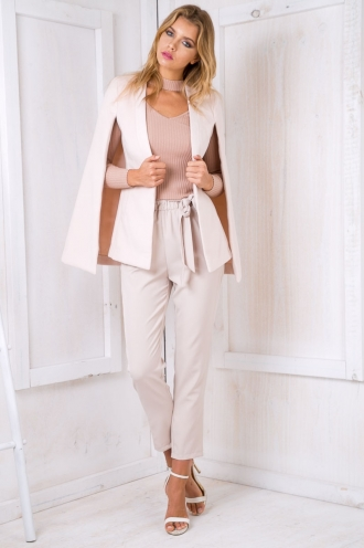 Kass cape coat - Beige