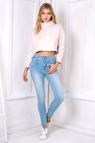 Donna high rise jeans - Light blue