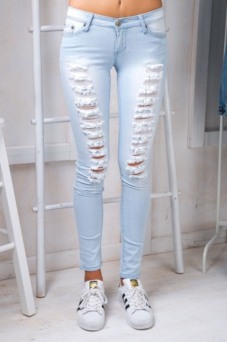 Callie ripped skinny jeans- Light denim wash