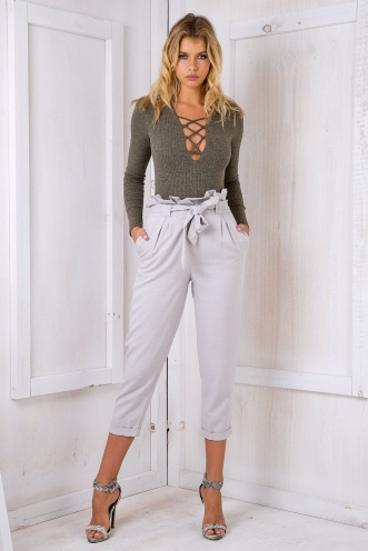 Lucinda tie pants - Grey SALE