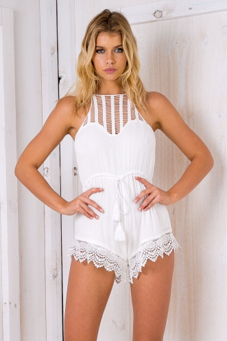 Carmen playsuit - White-SALE