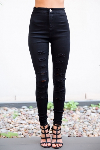 Laurina Stretch Jeans- Black