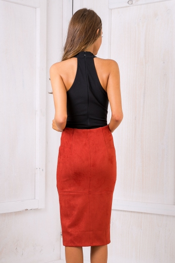 Maizy Suede skirt - Red