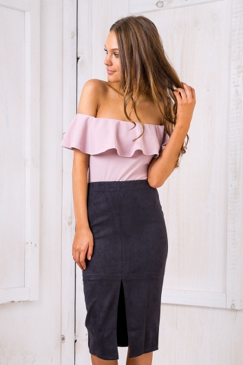 Maizy Suede skirt - Ink
