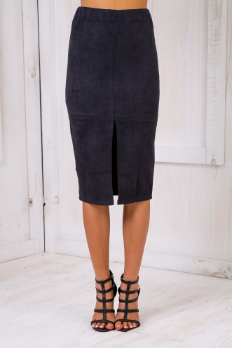 Maizy Suede skirt - Ink-SALE