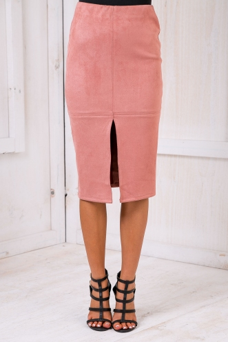 Maizy Seude skirt -Dusty pink-SALE