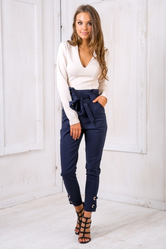 Arianda tailored pants - Navy