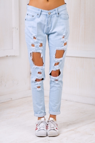 Blair ripped jeans- Washed blue