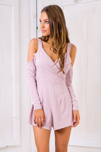 Bailey playsuit -Lilac pink