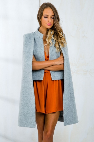 Lemon Cranberry Bar Womens Cape - Grey