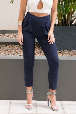 STELLY THE LABEL Taylor Luxe pants - Navy