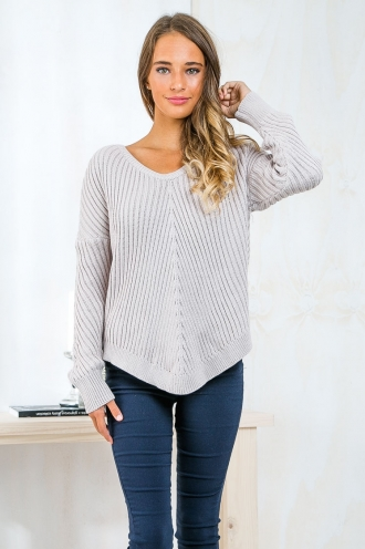 Eliza Knitted jumper - Taupe