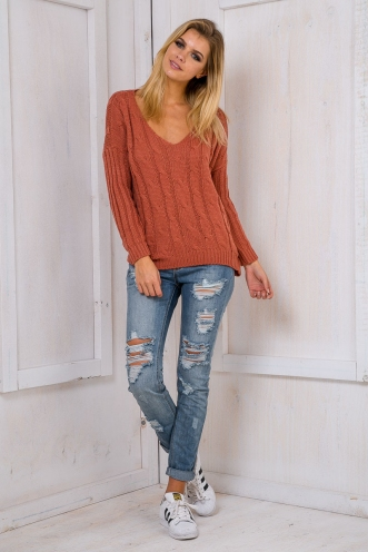 Paper towns jumper - Terracotta orange