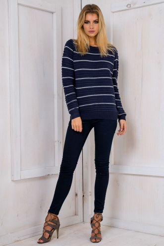 Danny jumper - Navy Stripe