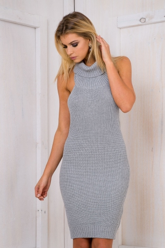 Hailey B Knitted dress - Grey