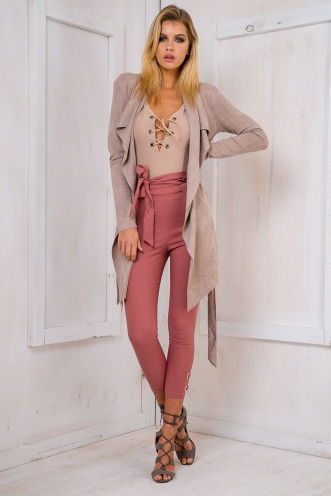 Yazmin suede jacket - Taupe
