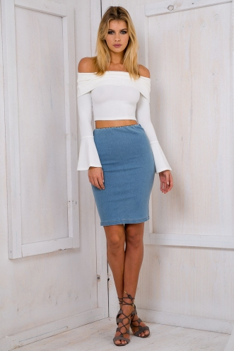Roxi pencil skirt - Denim