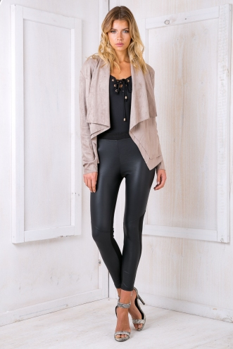 Lucy suede jacket - Mocha Taupe
