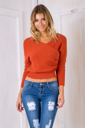 Aubrey jumper - Terracotta orange